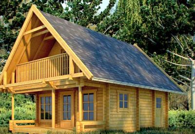 Una casa de madera prefabricada por un precio muy barato for Casas madera pequenas baratas