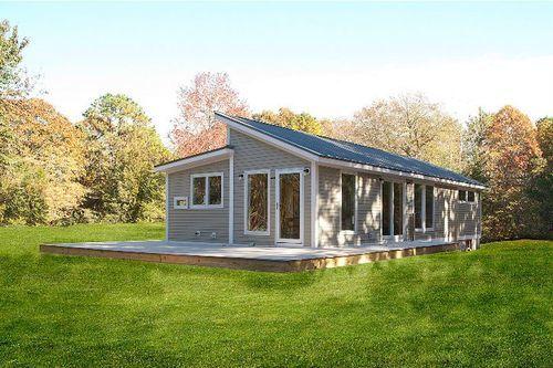 casa modular en el campo