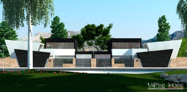 Una casa moderna de madera con dise o rectangular for Disenos de casas baratas