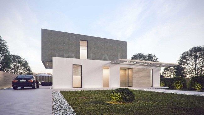 Casa minimalista modelo godella desde espa a for Casa modelo minimalista